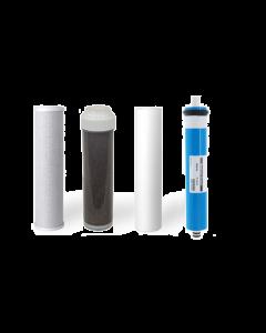 4 RO/DI REPLACEMENT AQUARIUM REVERSE OSMOSIS WATER FILTERS + MEMBRANE