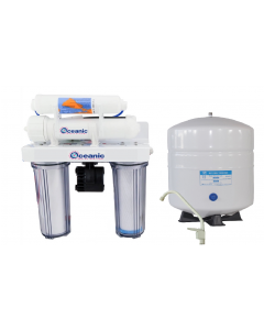 4 Stage Reverse Osmosis Drinking Water Filter System + Permeate Pump 75 GPD