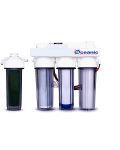 5 Stage - 0 PPM Reverse Osmosis/Deionization Aquarium Reef Water Filter System, 50 GPD