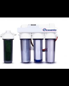5 Stage - 0 PPM Reverse Osmosis/Deionization Aquarium Reef Water Filter System, 50 GPD