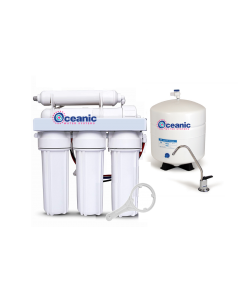 5 Stage Reverse Osmosis Water Filtration System 100 GPD | 1:1 Drain Ratio Low Waste/High Recovery RO System