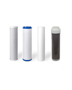 Replacement Filters for 5 Stage Aquarium Reef Reverse Osmosis RO/DI Water Systems (Sediment, GAC, Carbon, DI Filter)