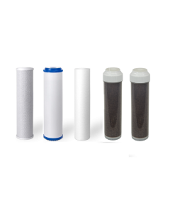 Replacement Filters for 6 Stage Aquarium Reef Reverse Osmosis RO/DI Water Systems (Sediment, GAC, Carbon, 2 DI Filters)