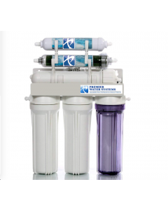 6 Stage Reverse Osmosis RODI Water Filtration System + Permeate Pump   100 GPD