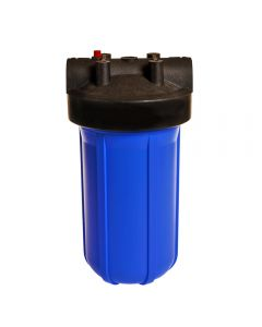 "10"" Big Blue Housing for Whole House Water Filtration System, 1"" Brass Port & Mounting Hardware/Bracket"