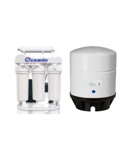 400 GPD Light Commercial Grade Reverse Osmosis Water Filtration System + 14 Gallon Water Storage Tank