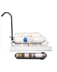 Countertop Reverse Osmosis ALKALINE Drinking Water Filter System | 5 Stage Low Pressure Unit