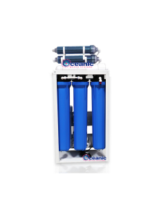 Commercial Grade Reverse Osmosis + Deionization (RO/DI) Water Filtration System - 400 GPD - 0 TDS Booster Pump
