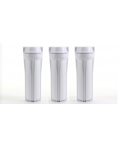 "3 REVERSE OSMOSIS WATER FILTER 10"" SLIMLINE HOUSINGS"