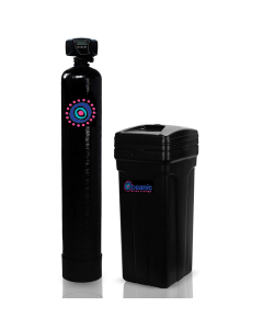 "Fleck 5600 Whole House Nitrate Reducing Water Softener | 32,000 Grain, 9""x48"" Tank, 1.0 Cubic Ft Softening Resin 1-3 Person Home"