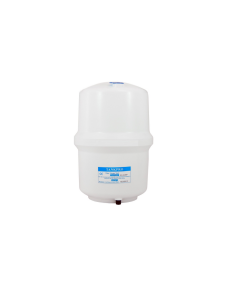 """Reverse Osmosis Water Storage PLASTIC Tank RO 3 Gallons 9""""x 15"""" -1/4"""" Connection"""