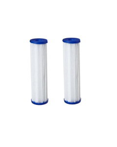 "2 Pack: Big Blue Polyester Pleated Sediment Water Filter 4.5"" x 20"" 