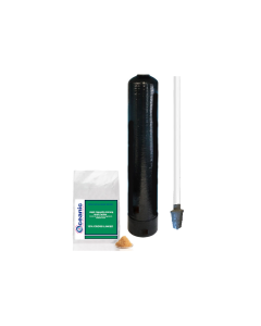 """Replacement Water Softener Tank + Pre-loaded 10% Cross Linked Cation Resin and Riser Tube 