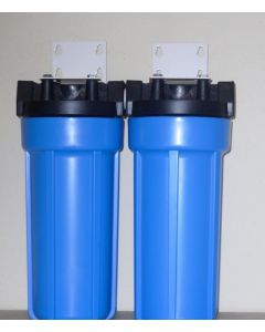 "DUAL WHOLE HOUSE WATER FILTERS SYSTEM 3/4"" PR"