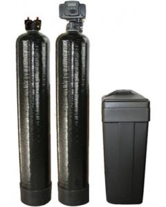 "Whole House Fleck Water Softener + Upflow Carbon Filtration System (10""x54"", 48000 Grain, 1.5 Cubic Ft)"