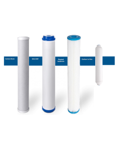 "Replacement Standard Slim Filters/Cartridges + Inline for Commercial Reverse Osmosis Water Filtration Systems - 2.5""x20"" Pleated"