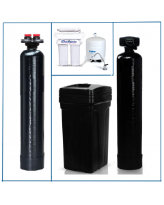 Whole House Package: Water Softener 64,000 Grain + Upflow Carbon Filtration + Drinking Water RO System