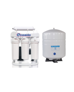 200 GPD Light Commercial Reverse Osmosis Water Filtration System + 6 Gallon Water Storage Tank