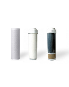 Replacement Water Filter Set: for Fluoride, Chlorine, and Heavy Metal Removal