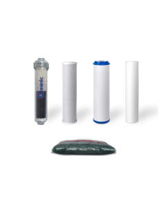 Replacement Water Filter Set for Dual Outlet Alkaline Reverse Osmosis Filtration Systems