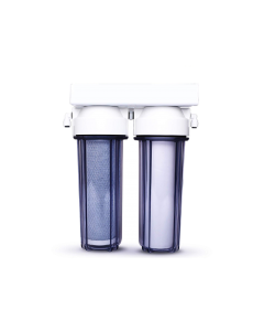 Oceanic Under Counter Dual Water Filter Drinking Water System - Carbon and KDF 55 - Chlorine Removal