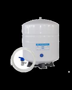Reverse Osmosis Water Storage Pressure Tank 4.5 Gallon (3.2 Gal Capacity) plus Tank Valve /Tubing/Tee