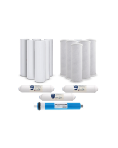 Pack of 16: Replacement Filters for Reverse Osmosis Water Filtration Systems - Sediment, Carbon, GAC, Inline (3 Year Supply)