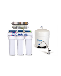 California Edition: 6 Stage RO Reverse Osmosis Water Filtration System ALKALINE pH 100 GPD 1:1 Ratio Low Waste:High Recovery