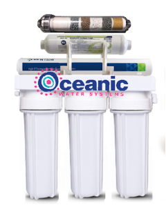 6 Stage Reverse Osmosis Alkaline Water Filtration System 75 GPD | 1:1 Drain Ratio Low Waste/High Recovery RO System