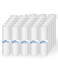 "Pack of 25: Sediment Filters 5 Micron 2.5"" x 9.75"" - Reverse Osmosis Drinking Water Filters"
