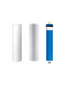 Hydro Logic Stealth RO100 Compatible Three Filter Pack - 100 GPD RO Membrane, Carbon, Sediment Filter for Hydrologic Systems