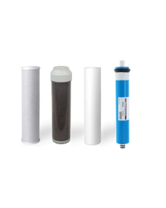 4 RO/DI REPLACEMENT AQUARIUM REVERSE OSMOSIS WATER FILTERS + MEMBRANE