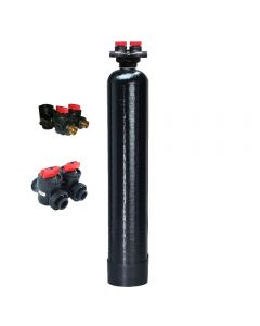 "WHOLE HOUSE WATER FILTRATION SYSTEM | 1.0 cu ft Catalytic Carbon | 9"" x 48"" IN/OUT Valve"
