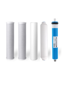 Replacement RO Filter Set: For 100 GPD - 5 Stage Reverse Osmosis Filtration Systems (Includes Membrane)