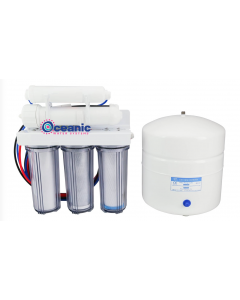 5 Stage: Complete Home Reverse Osmosis Drinking Water Filtration System 75 GPD | Clear