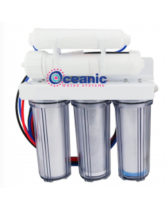 Oceanic Reverse Osmosis Water Filtration System - 5 Stage CORE RO Under Sink Water Filter | 100 GPD - Clear