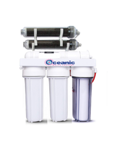 Oceanic Aquarium Reef Reverse Osmosis DI Water Filter 6 Stage System 100 GPD | 0 ppm