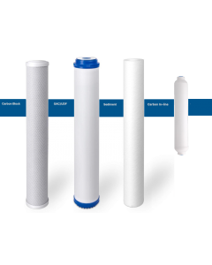 "Replacement Standard Slim Filters/Cartridges + Inline for Commercial Reverse Osmosis Water Filtration Systems - 2.5""x20"""