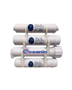 "4-Stage Portable Heavy Duty Reverse Osmosis Water Filter Purification System | Low Pressure Membrane | 2.5 x 12"" Filters"