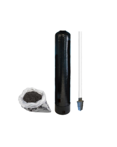 "Replacement Water Filter Tank + Pre-loaded Activated Coconut Shell Carbon (GAC) and Riser Tube | 9"" x 48"" - 1.0 Cubic Ft"