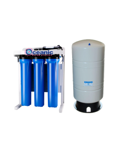 "Oceanic Light Commercial 800 GPD - 20"" Reverse Osmosis Water Filtration System + Booster Pump +  20 Gallon Tank"