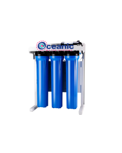 "Oceanic Light Commercial 800 GPD - 20"" Reverse Osmosis Water Filtration System + Booster Pump 