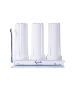 Triple Counter Top Water Filtration System: Carbon Block, Sediment, GAC Filters