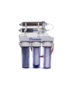 Reverse Osmosis Water Filter System Dual Outlet RO/DI | 50 GPD (Drinking & 0 PPM Aquarium Reef/Deionization) w/pH Alkaline Mineral Restoration Filter