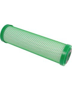 """Hydro-Logic 22110 10-Inch by 2.5-Inch Stealth RO/Small Boy Carbon Filter Green Coconut Shell Carbon - 5 Micron   2.5"""" x 10"""" Hydrologic"""