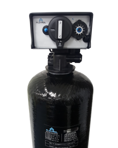 "Oceanic Whole House Water Filtration System + Backwash Valve | 13""x 54"" Tank - 3.0 Cubic ft. of Coconut Shell Carbon (GAC)"