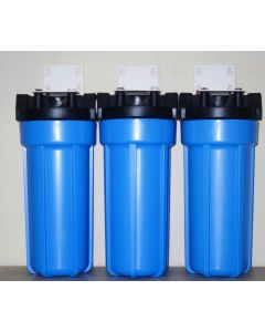 """OCEANIC TRIPLE WHOLE HOUSE WATER FILTERS SYSTEM 3/4"""" FPNT SEDIMENT KDF55 GAC"""