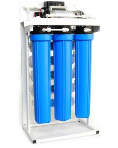 "Light Commercial Reverse Osmosis Water Filtration System 400 GPD with Booster Pump | 20"" Filters"