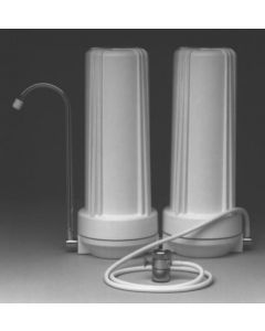 Counter Top Water Filter - 2 Stage Filtration - Sediment & Carbon Filter