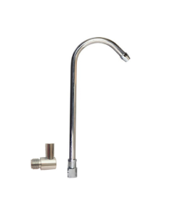 Oceanic Add-On Spout + Elbow Spout Adapter for Portable or Countertop Water Filtration Systems | Chrome Finish | Lead Free |